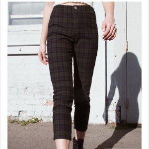 Brandy Melville Green plaid tilden pants